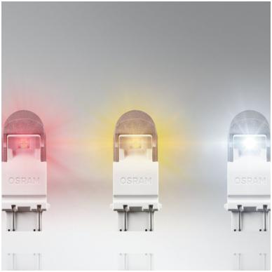 LED lemputės P27/7W OSRAM AMBER PREMIUM 12V 2W, 3557YE-02B, 4052899368064 5
