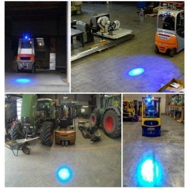 EMC LED mėlynas autokrautuvo saugos - žemės ūkio purkštuvo žibintas 10-30V E13, 10R-04 4