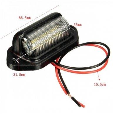 LED numerio apšvietimas 12V-24V transportui SAE DOT L09 žibintas 3