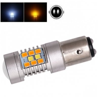 LED P21/5W 12V 6W 42SMD LED dviejų kontaktų automobilių posūkio gabarito/DRL lemputė