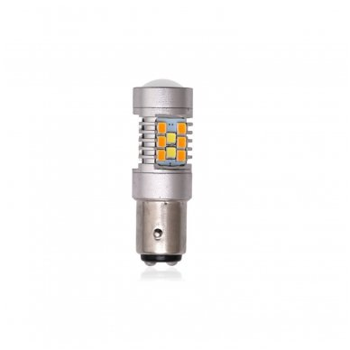 LED P21/5W 12V 6W 42SMD LED dviejų kontaktų automobilių posūkio gabarito/DRL lemputė 2