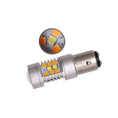 LED P21/5W 12V 6W 42SMD LED dviejų kontaktų automobilių posūkio gabarito/DRL lemputė 3