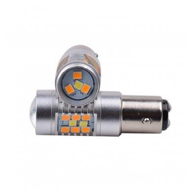 LED P21/5W 12V 6W 42SMD LED dviejų kontaktų automobilių posūkio gabarito/DRL lemputė 4