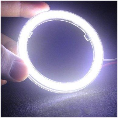 LED SMD Angel Eyes DRL 80 mm žibintų žiedai 2
