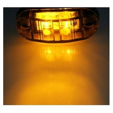 LED šoninis gabaritas, posūkis 12-24V automobiliui, sunkvežimiui, priekabai geltonas 00SM1 E11 0212 DOT SAEP2P307 2