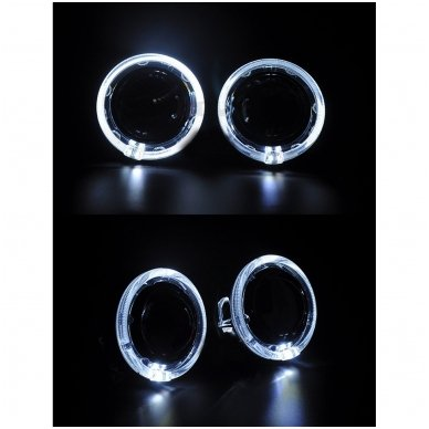 Linzės apdaila dangtelis su Angel Eyes LED DRL funkcija 2.5 / 3.0 colio 8