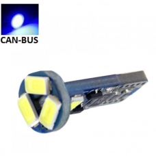 Mėlyna LED CAN BUS lemputė T10 / W5W - 5 LED