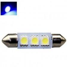 Mėlyna led F10 / c5w 36mm, 3 led lemputė automobilio numerio, salono apšvietimui