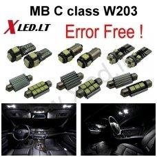 Mercedes Benz C class W203 LED salono apšvietimo lempučių komplektas