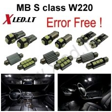 Mercedes Benz S class W220 LED salono apšvietimo lempučių komplektas