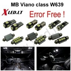 Mercedes Benz Viano class W639 LED salono apšvietimo lempučių komplektas