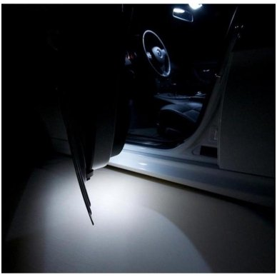 Mercedes Benz C class W203 LED salono apšvietimo lempučių komplektas 12