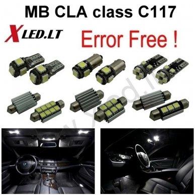 Mercedes Benz CLA class C117 LED salono apšvietimo lempučių komplektas