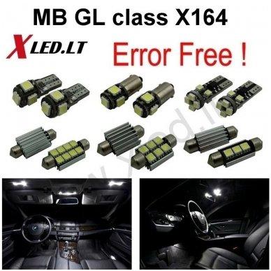 Mercedes Benz GL class X164 LED salono apšvietimo lempučių komplektas