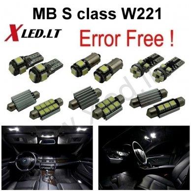 Mercedes Benz S class W221 LED salono apšvietimo lempučių komplektas