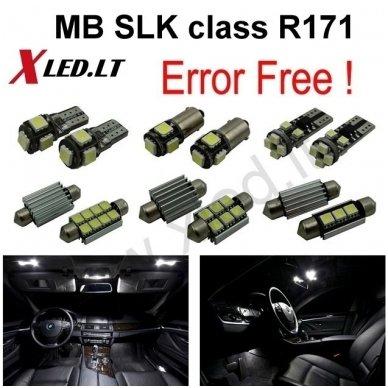 Mercedes Benz SLK class R171 LED salono apšvietimo lempučių komplektas