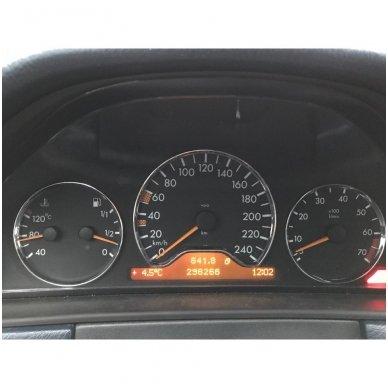 Mercedes Benz W202 W208 W210 iki facelift CROME spidometro žiedai 7