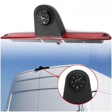 Mercedes Sprinter VW Crafter galinio vaizdo kamera integruota stabdžio žibinte 3