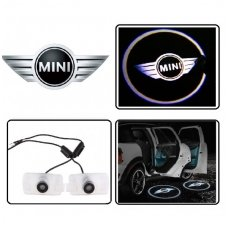 MINI COOPER LED 3D originalus logotipas šešėlis į duris
