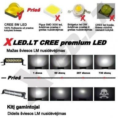 MINI LED BAR žibintas 120W 12-24V COMBO 64cm 5