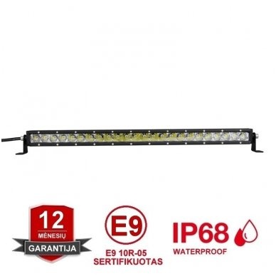 MINI LED BAR žibintas 120W 12-24V (E9 10R) SPOT