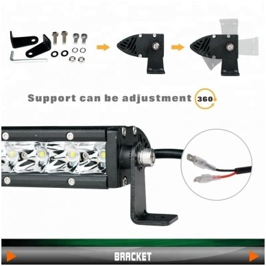 MINI LED BAR žibintas 30W 12-24V SPOT 19cm 11