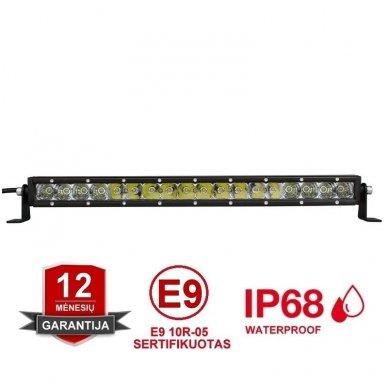 MINI LED BAR žibintas 90W 12-24V (E9 10R) COMBO