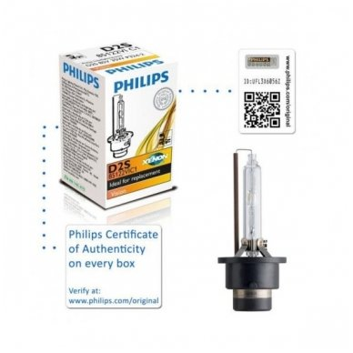 D2S NEW PHILIPS VISION originali 85122VIC1, 4400K xenon lemputė 3