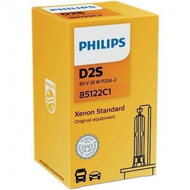 D2S NEW PHILIPS VISION originali 85122VIC1, 4400K xenon lemputė