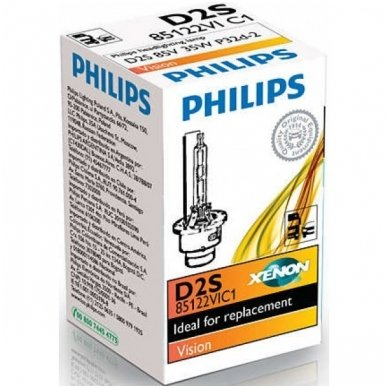 D2S NEW PHILIPS VISION originali 85122VIC1, 4400K xenon lemputė 4