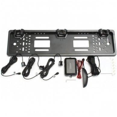 """Numerio rėmelis 3-ių juodos spalvos daviklių parkavimosi sistema su laidiniu LED ekranu """"EAGLE"""" 2"""