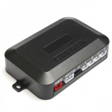 """Numerio rėmelis 3-ių juodos spalvos daviklių parkavimosi sistema su laidiniu LED ekranu """"EAGLE"""" 7"""