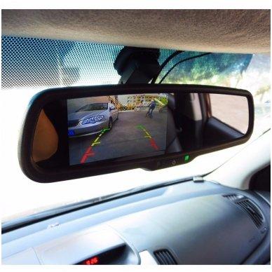 OEM Veidrodėlis HD 4.3 colių LCD automobilio monitorius 12V-24V 6