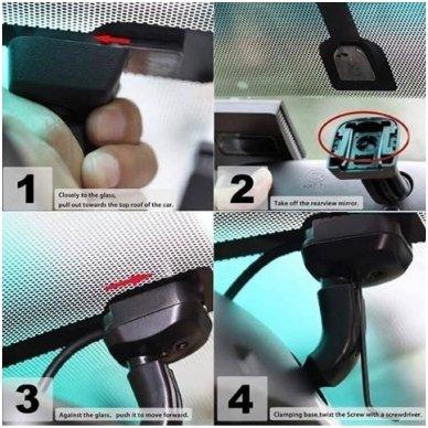 OEM Veidrodėlis HD 4.3 colių LCD automobilio monitorius 12V-24V 4