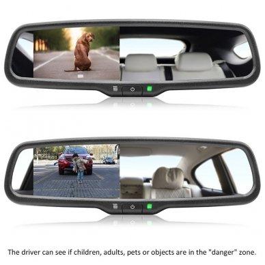 OEM Veidrodėlis HD 4.3 colių LCD automobilio monitorius 12V-24V 9