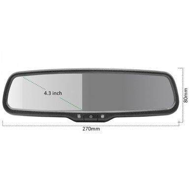 OEM Veidrodėlis HD 4.3 colių LCD automobilio monitorius 12V-24V 10