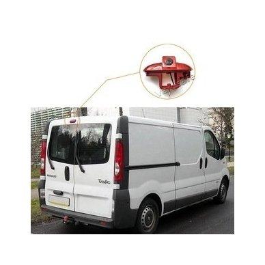 Opel Vivaro Renault Trafic 2001-2014 galinio vaizdo kamera integruota stabdžio žibinte 4