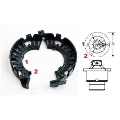 Originalus D1 D2 D3 D4 xenon LED lemputės adapteris su metaliniu žiedu BMW/AUDI/MB/TOYOTA/MAZDA /SAAB/VOLVO 3