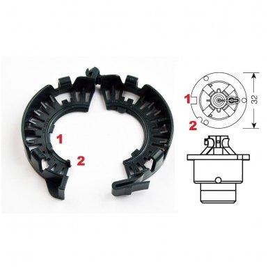 Originalus D1 D2 D3 D4 xenon HELLA linzės lemputės adapteris su metaliniu žiedu BMW/AUDI/MB/TOYOTA/MAZDA /SAAB/VOLVO 3