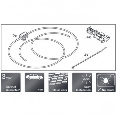 OSRAM CAN BUS CONTROLER 12V 5W, LED klaidų naikintojai LEDCBCTRL101 4