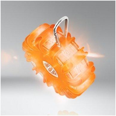 OSRAM LED SL302 švyturėlis su baterijom LEDguardian ROAD FLARE ORAN 4052899184053