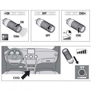 OSRAM LEDinspect FLASHLIGHT 15 LEDIL205 nešiojamas žibintuvėlis 4052899424951 9