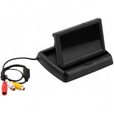 """Parkavimo kameros 4.3"""" LCD išvažiuojančio monitoriaus 4-ių juodos spalvos jutiklių """"EAGLE"""" sistema 3"""