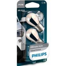 PHILIPS PY21W SilverVision posūkių lemputės 12V 21W 12496SVB2, 8711500311191