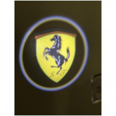 PORSCHE LED 3D originalus logotipas šešėlis į duris 2
