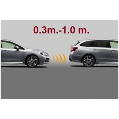 """Priekio 4-ių pilkos spalvos jutiklių parkavimo sistema """"EAGLE"""" su garsiniu Bi-Bi signalu. Garantija 36 mėn. 3"""