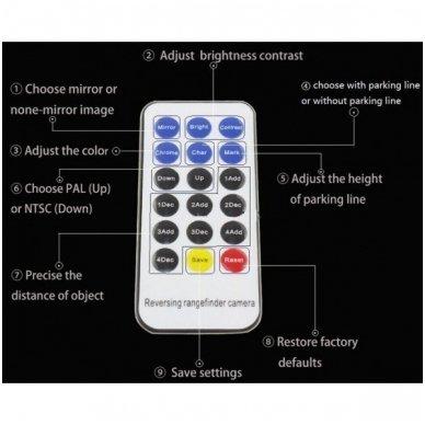 Profesionali automobilio galo / priekio vaizdo kamera - su atstumo rėmeliu reguliuojama 3