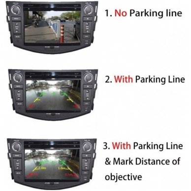 Profesionali automobilio galo / priekio vaizdo kamera - su atstumo rėmeliu reguliuojama 4
