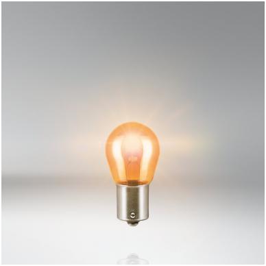 PY21W OSRAM 7507 12V 21W geltona halogeninė lemputės 2