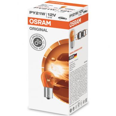 PY21W OSRAM 7507 12V 21W geltona halogeninė lemputės 3